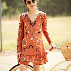 Chelsea & Violet Embroidered Dress S EUC